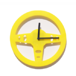 Drive - Steering Wheel Wall Clock - Yellow